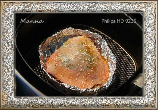 Карамельная курочка в мультипечи Philips HD9235