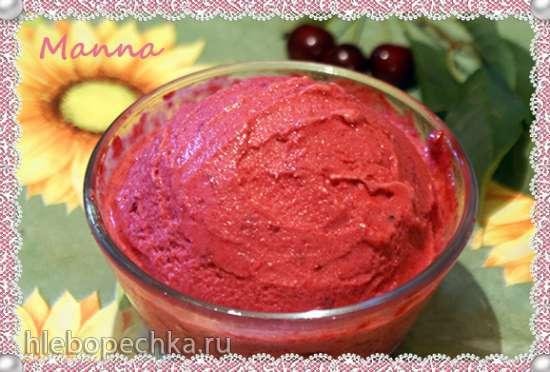 Бананово-вишневый сорбет и джелато (компрессорная мороженица Nemox Talent Gelato&Sorbet)