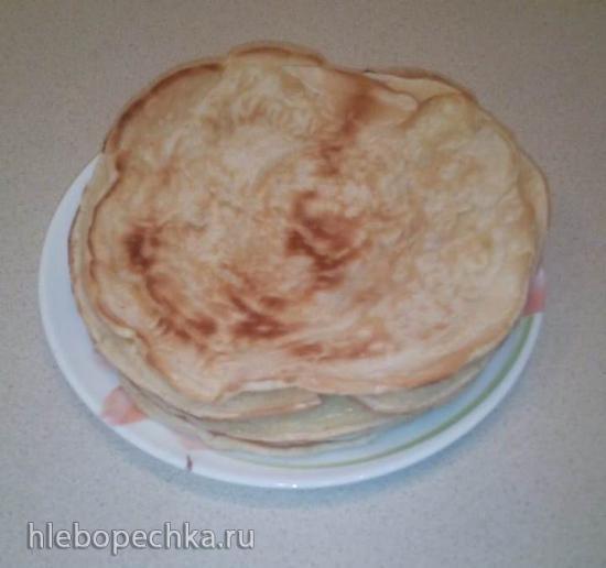 Лепешка-пухлячок яично-майонезная в пиццамейкере Princess 115000