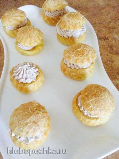 Закусочные пирожные из заварного теста