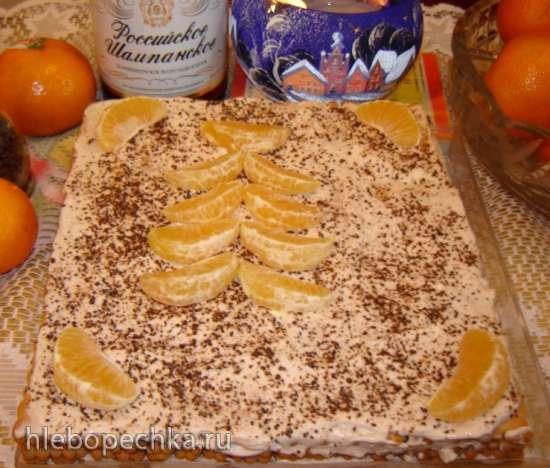 Торт Праздничный, быстрый из печенья Кухмастер