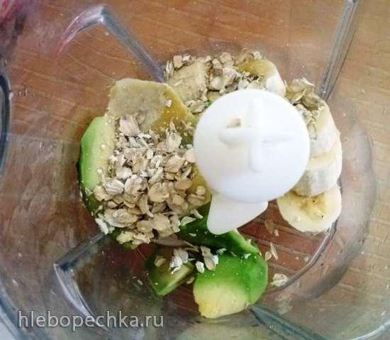 Желтый + Зеленый (смузи с авокадо и бананом)