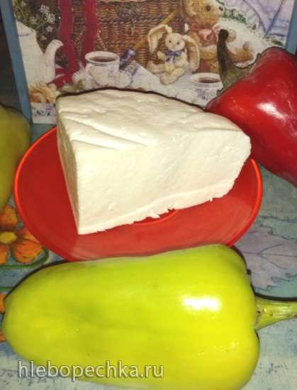 Красное + Белое (сладкий перец, запеченный с адыгейским сыром)