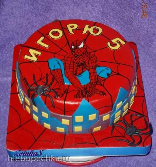 Торты по мотиву мультфильма Человек-паук