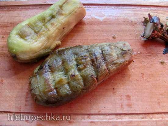 Консервация запеченных на мангале овощей без соли и уксуса для баклажанной икры с дымком