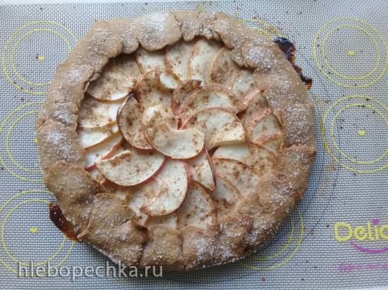 Постная гречневая галета с яблоками