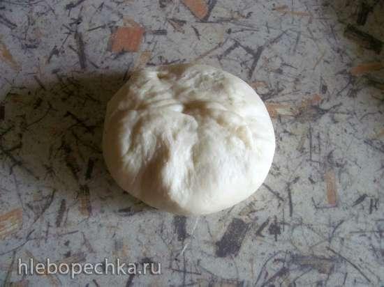 Пирог дрожжевой с маком и повидлом