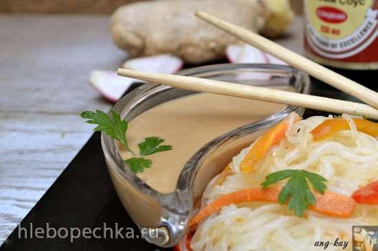 Бобовая вермишель лонгкоу с соусом «Сатай» (постная)