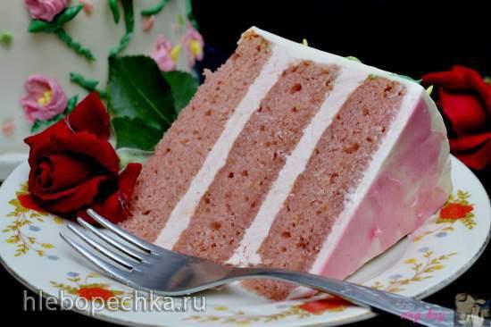Торт клубнично-лимонный
