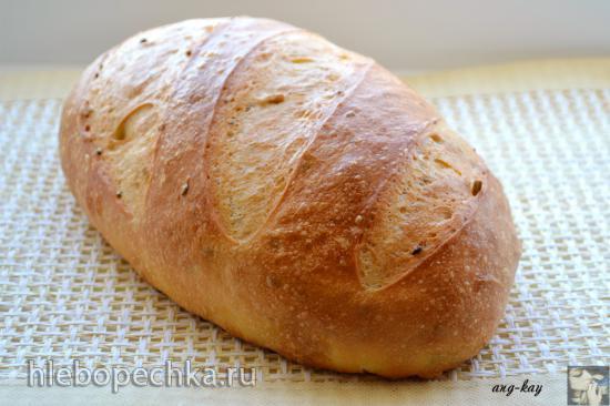 Дрожжевой хлеб с семолиной и пахтой