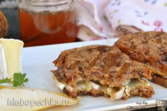 Бутерброды с грушей и камамбером