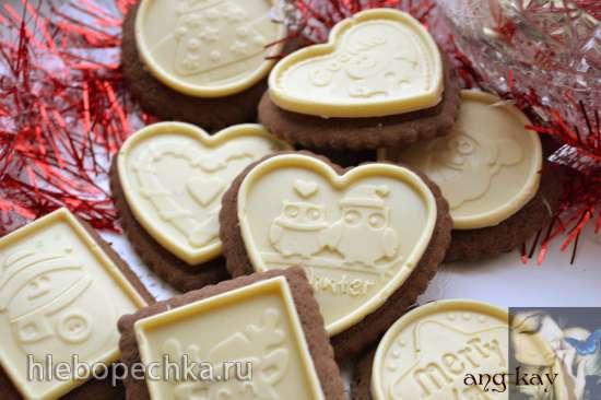 Печенье с перцем и белым шоколадом