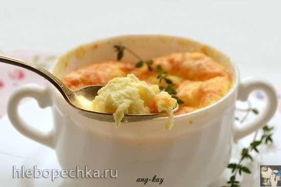 Суфле из козьего сыра с тимьяном