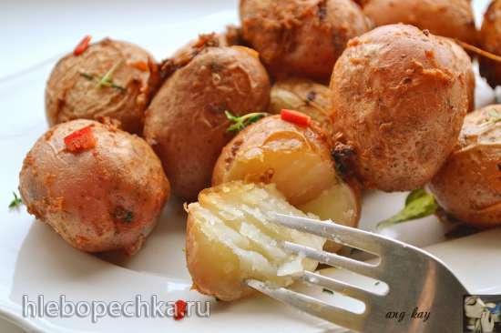 Запеченный имбирный картофель