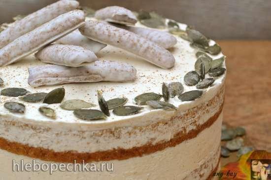 Торт тыквенный с белково-масляным кремом