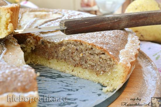 Миндальный тарт с грушей