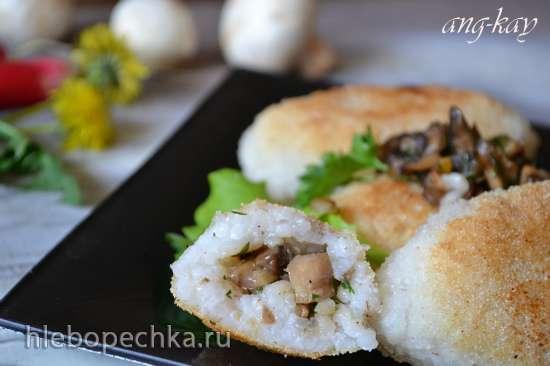 Зразы рисовые с грибами (постные)