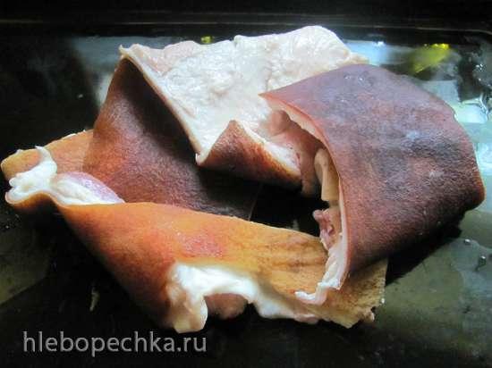 Швартенблок  Schwartenblock (эмульсия из вареной свиной шкурки)