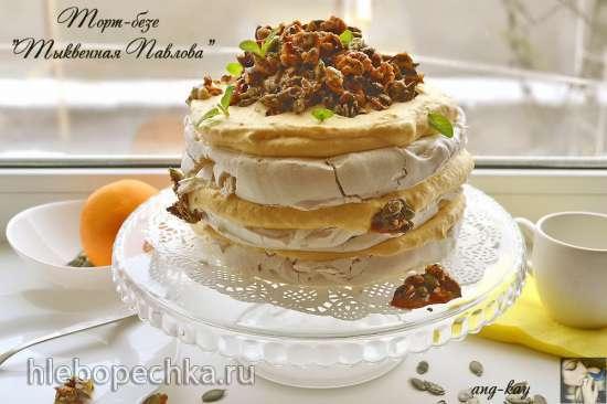 Торт-безе «Тыквенная Павлова»