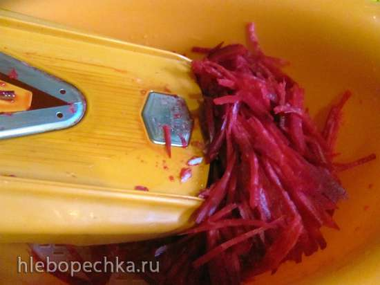 Борщ с копчеными сливами и баклажанами (постный)
