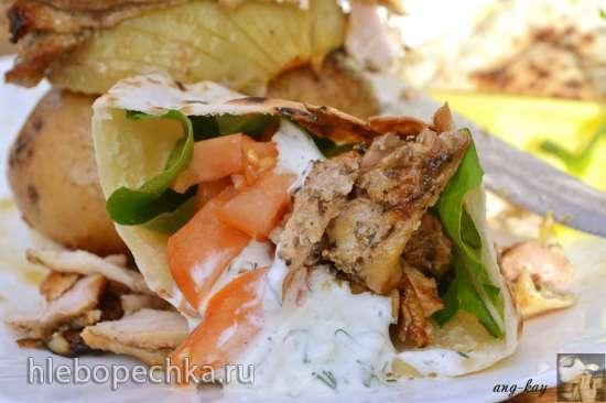 Греческий гирос в духовке