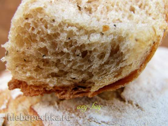 Хлеб пшенично-ржаной с кофе и перцем