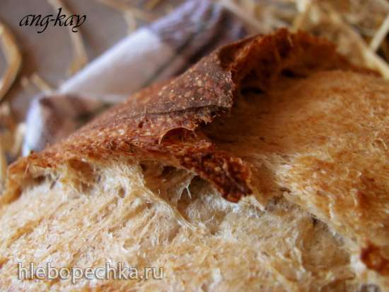 Хлеб пшенично-ржаной на черном чае