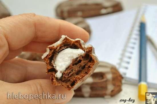 Эклеры шоколадные с маршмеллоу