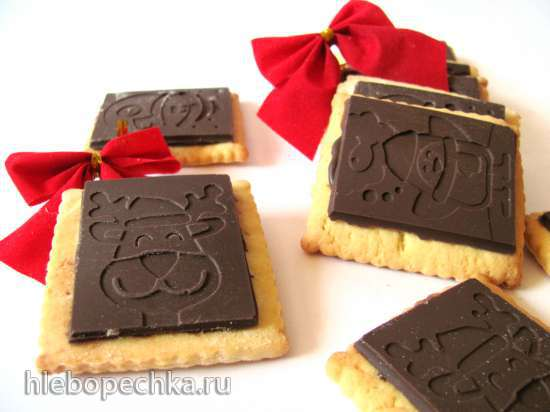 Песочное печенье с шоколадом (штамп плюс силиконовый мат)