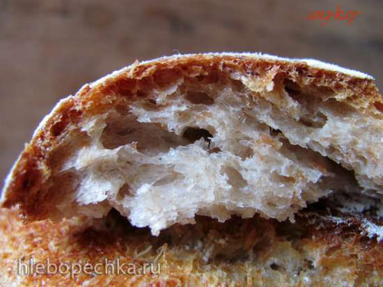 Хлеб пшенично ржаной на фруктовых дрожжах
