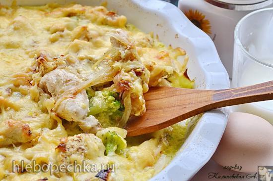 Запеканка куриная с брокколи