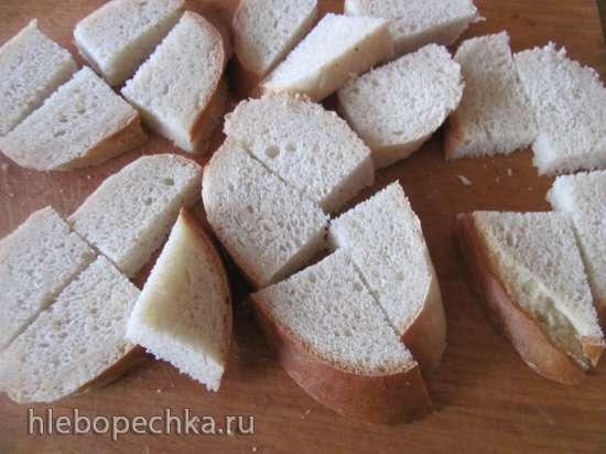 Запеканка из репчатого лука с хлебом
