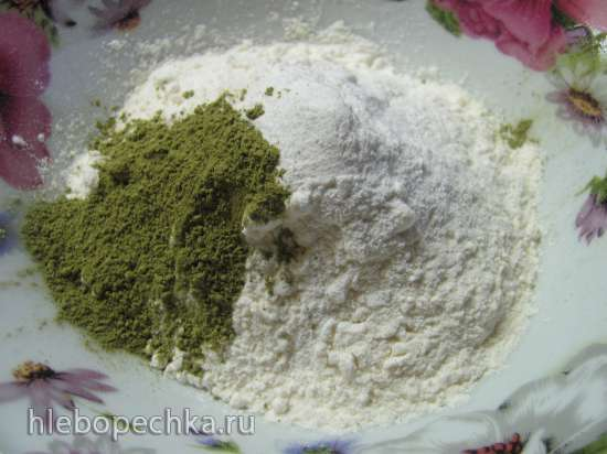 Печенье «Мадлен» с чаем матча из холодного теста