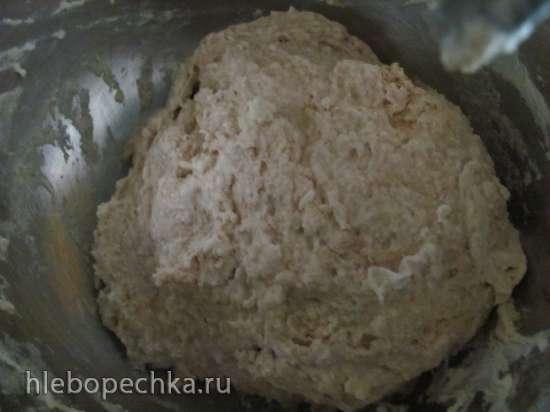 Пшеничный хлеб с нутовой мукой и луком