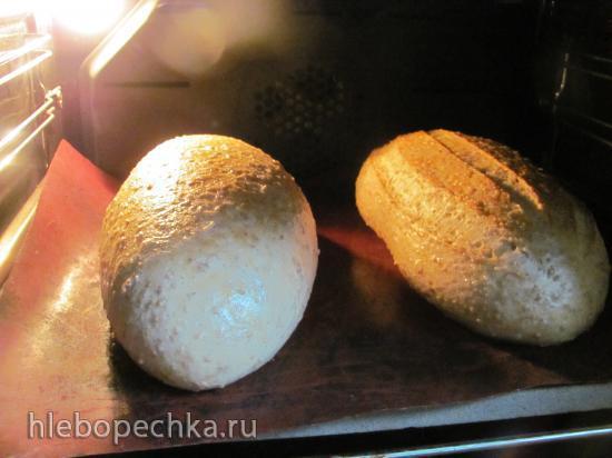 Хлеб пшеничный с гречневыми хлопьями