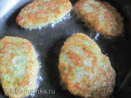 Оладьи кабачково-картофельные (постные)