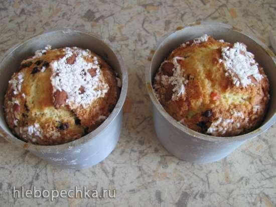 Кулич-кекс по мотивам итальянской коломбы (без дрожжей)