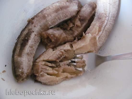 Постные банановые кексы с арахисовой пастой и льняным «яйцом»