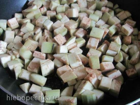 Картофель с баклажанами (постный)
