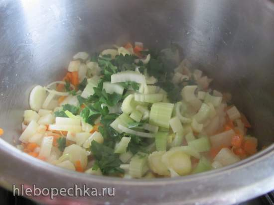 Овощной крем-суп со шпинатом