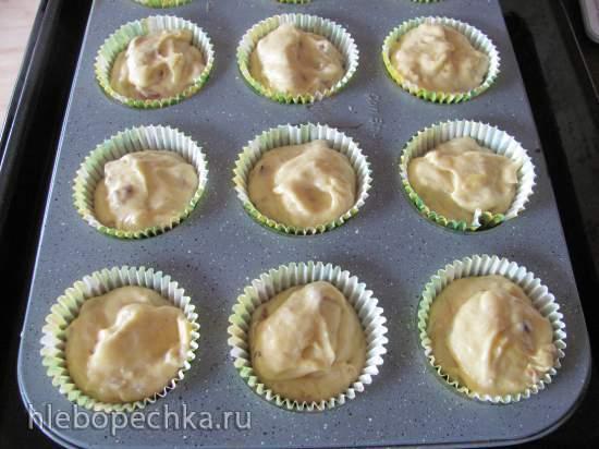 Кексы банановые с орехами