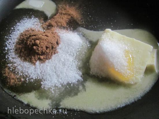 Бисквитный торт «Карамельная груша с орехами»