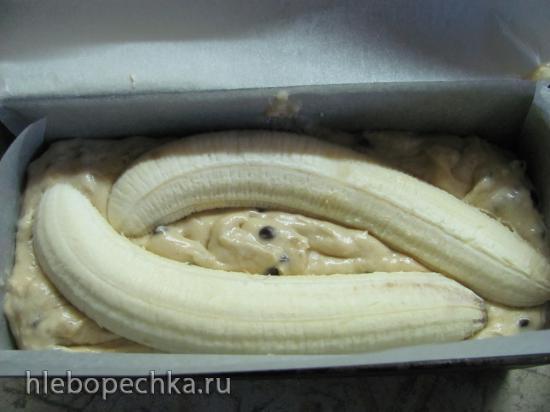 Банановый кекс с шоколадными каплями
