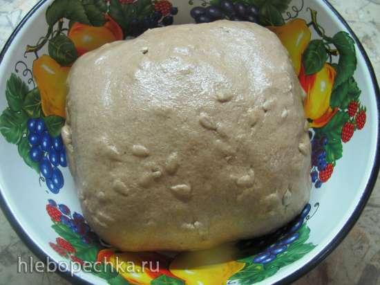 Хлеб пшенично-ржаной на закваске с семечками