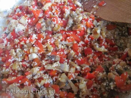 Скумбрия фаршированная овощами  и кус-кусом (постный и не постный вариант)