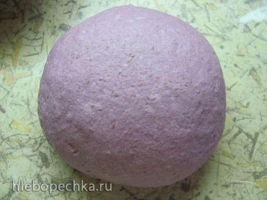 Хлеб пшеничный с фиолетовым бататом