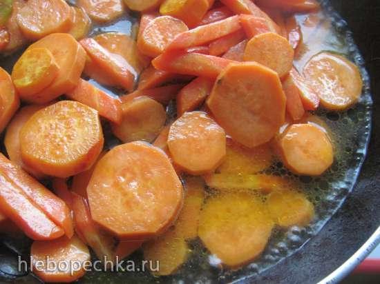 Кус-кус с бататом, морковью и гранатом (постный)