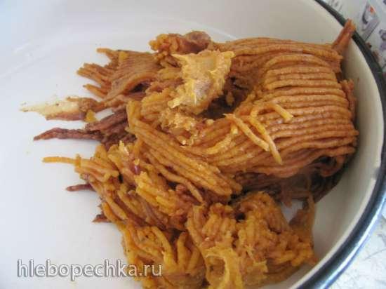 Финиковая колбаска (постная, вегетарианская)