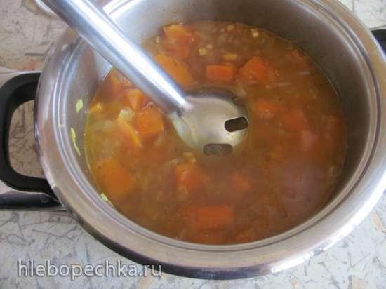 Суп карри тыквенный с кокосовым молоком (постный)