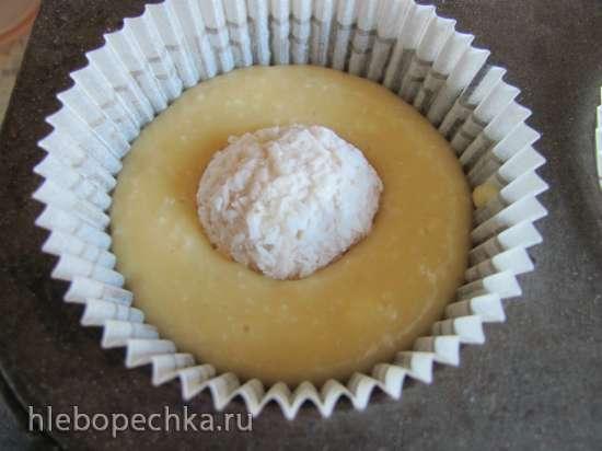 Капкейки кокосовые с кокосовым кремом